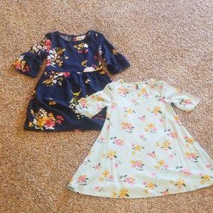 Set of two girls fall dresses.